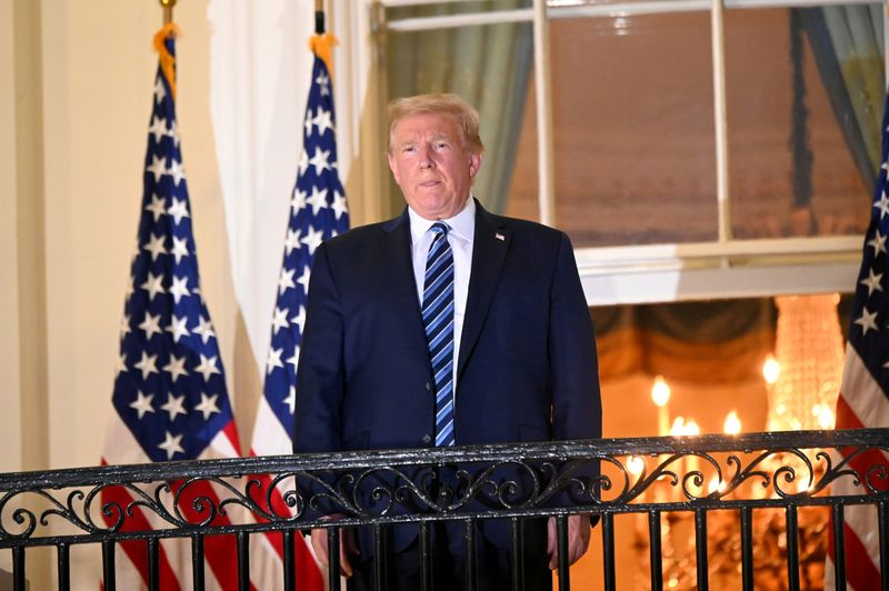 Trump, still facing health questions, holds first public event since COVID-19 diagnosis By Reuters